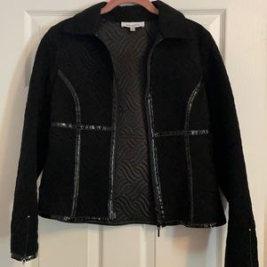 3for30/Anne Fontaine size 40 Poly textured jacket